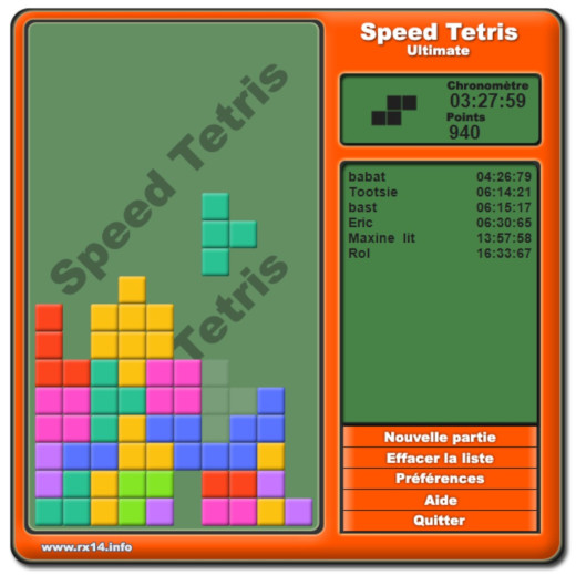 Speed Tetris Ultimate